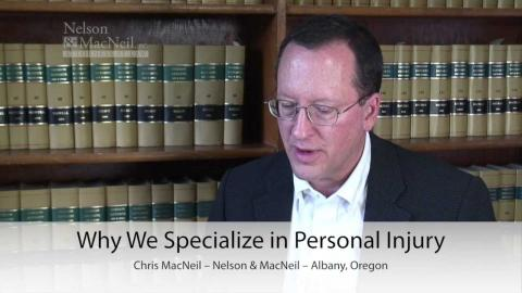 Embedded thumbnail for Why we specialize in personal injury